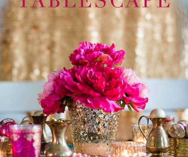 Pink & Gold Tablescape