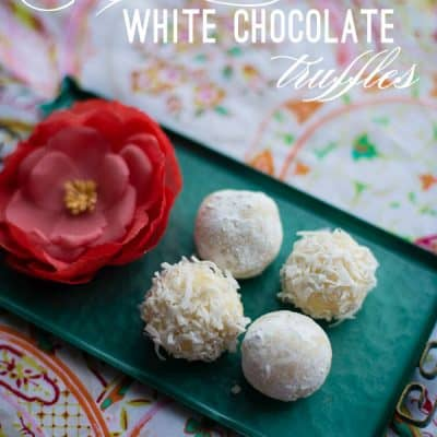 Elderflower White Chocolate Truffles