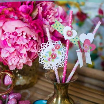 Decorate Your Own Valentine Straws