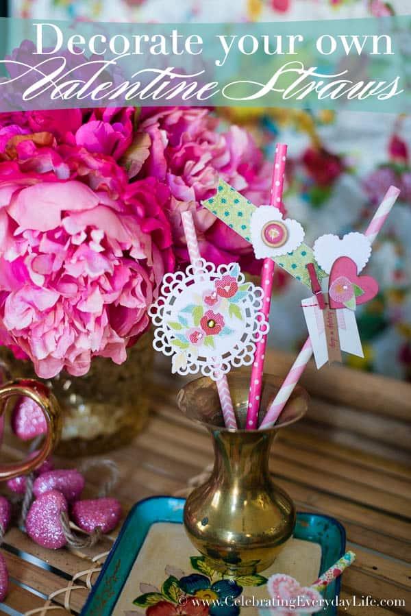 Decorate Your Own Valentine Straws