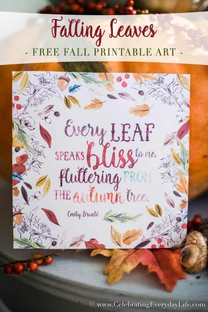 Falling Leaves Free Fall Printable