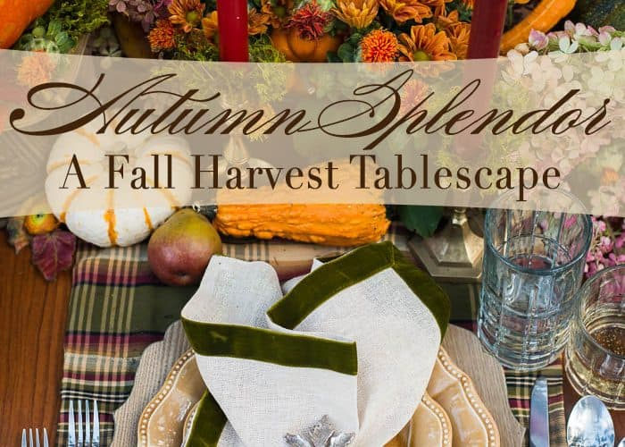 A Fall Tablescape – Welcome Autumn