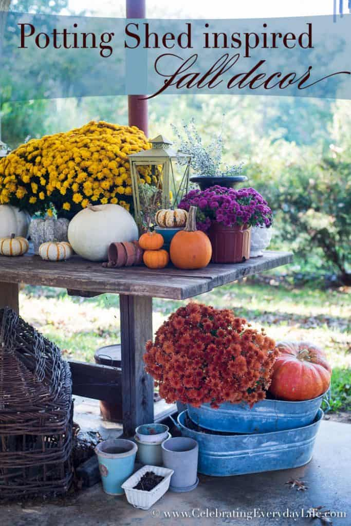 Potting Shed Inspired Fall Vignette