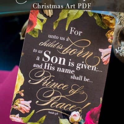 Free Christmas Scripture Printable PDF