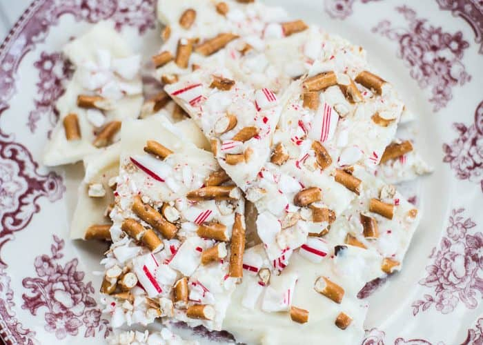 Easy White Chocolate & Pretzel Peppermint Bark Recipe