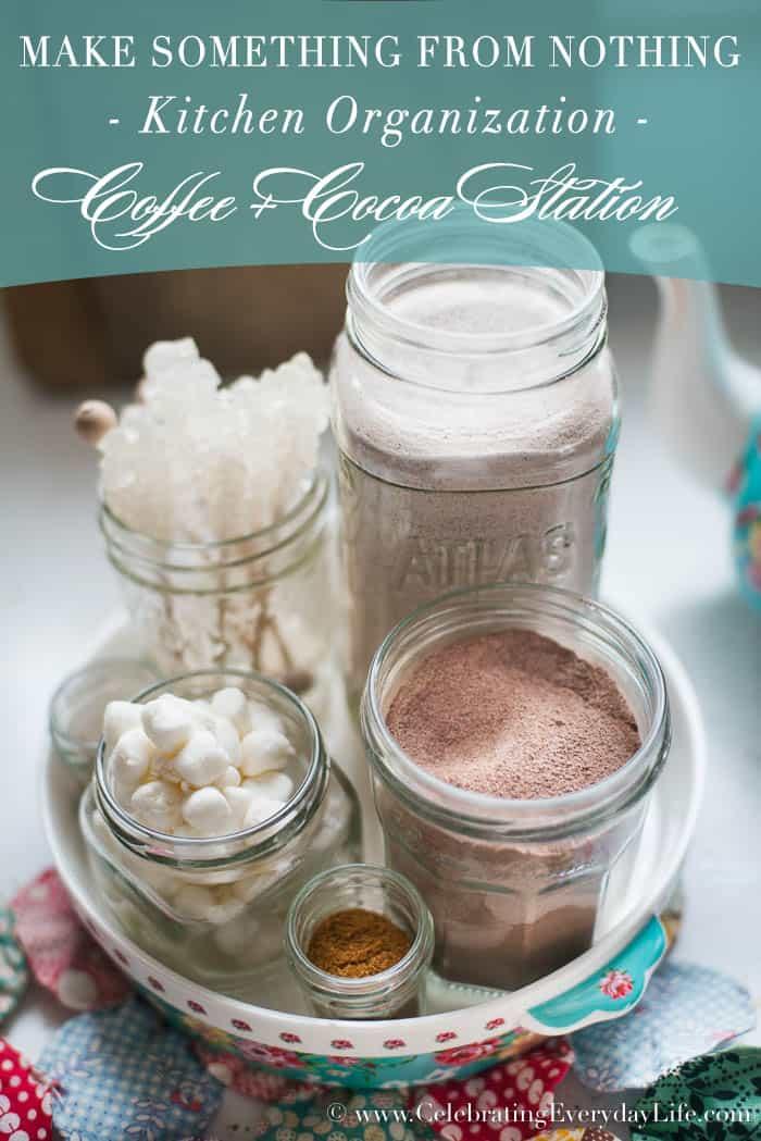 Coffee And Cocoa Station Make Something From Nothing  Celebrating Everyday Life with Jennifer Carroll   www.CelebratingEverydayLife.com