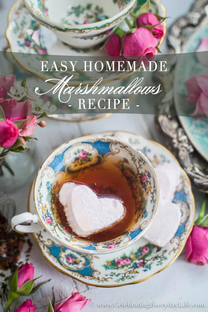 Easy Homemade Marshmallow Recipe | Celebrating Everyday Life with Jennifer Carroll | www.CelebratingEverydayLife.com