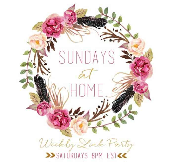 Sundays at Home link party logo