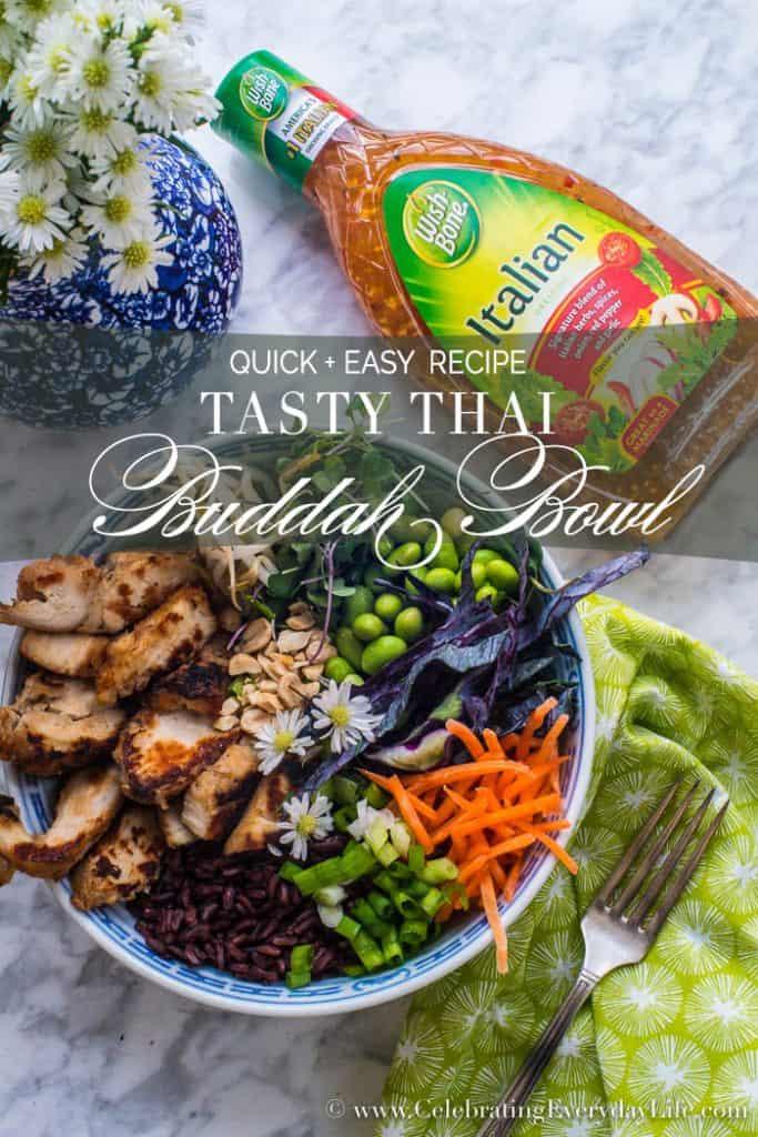 Make this easy Tasty Thai Buddah Bowl for dinner tonight   Celebrating Everyday Life with Jennifer Carroll   www.CelebratingEverydayLife.com