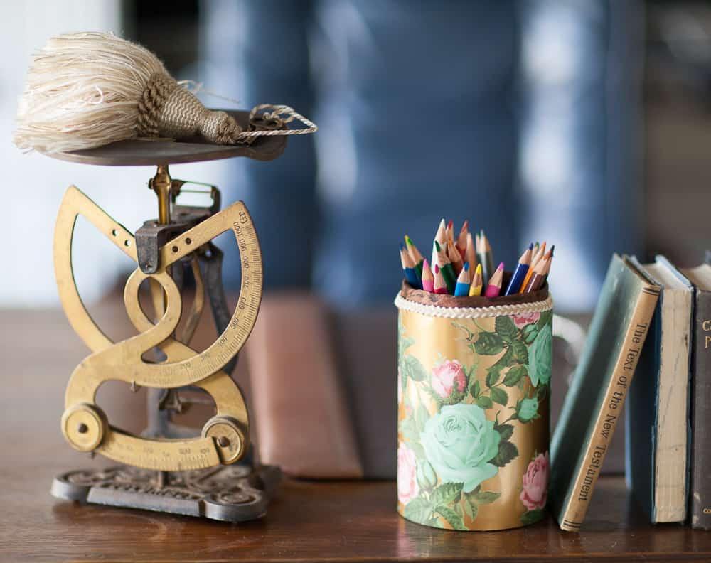 Sundays At Home Feature DIY pencil holder from Cedar Hill Farmhouse