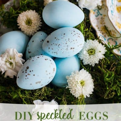 DIY Speckled Eggs – Easy Easter Craft