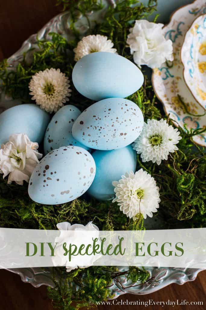 DIY Speckled Eggs – Easy Easter Craft