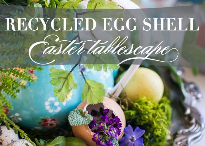 Egg Shell Easter Tablescape