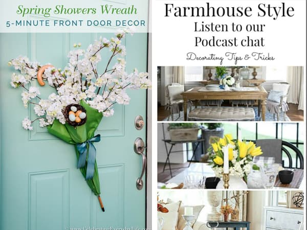 5 minute Front Door Umbrella Wreath and Decorating Tips & Tricks Podcast Rave Review