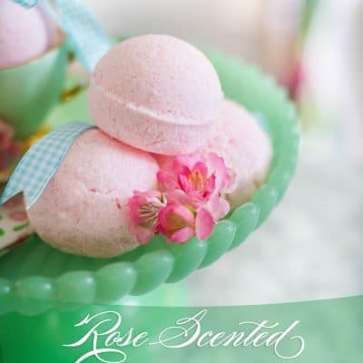 Rose Scented Bath Bomb DIY
