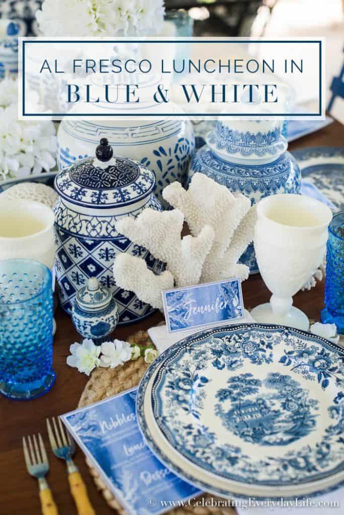Al Fresco Luncheon in Blue & White