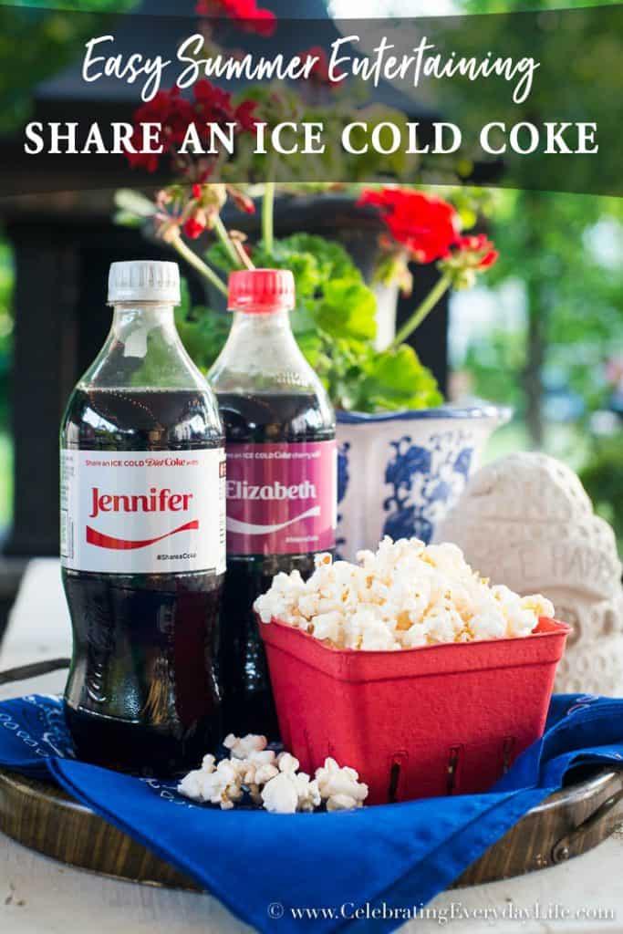 Share A Coke Easy Summer Entertaining