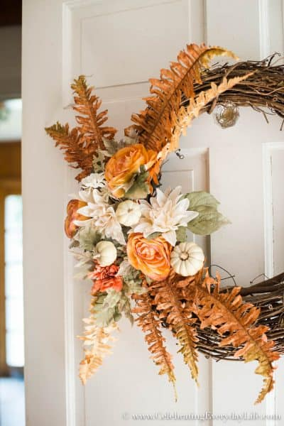How to Make an EASY and Beautiful Chic Fall Wreath + Video!