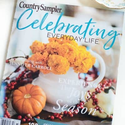 Celebrating Everyday Life magazine Fall Winter 2017 is HERE!