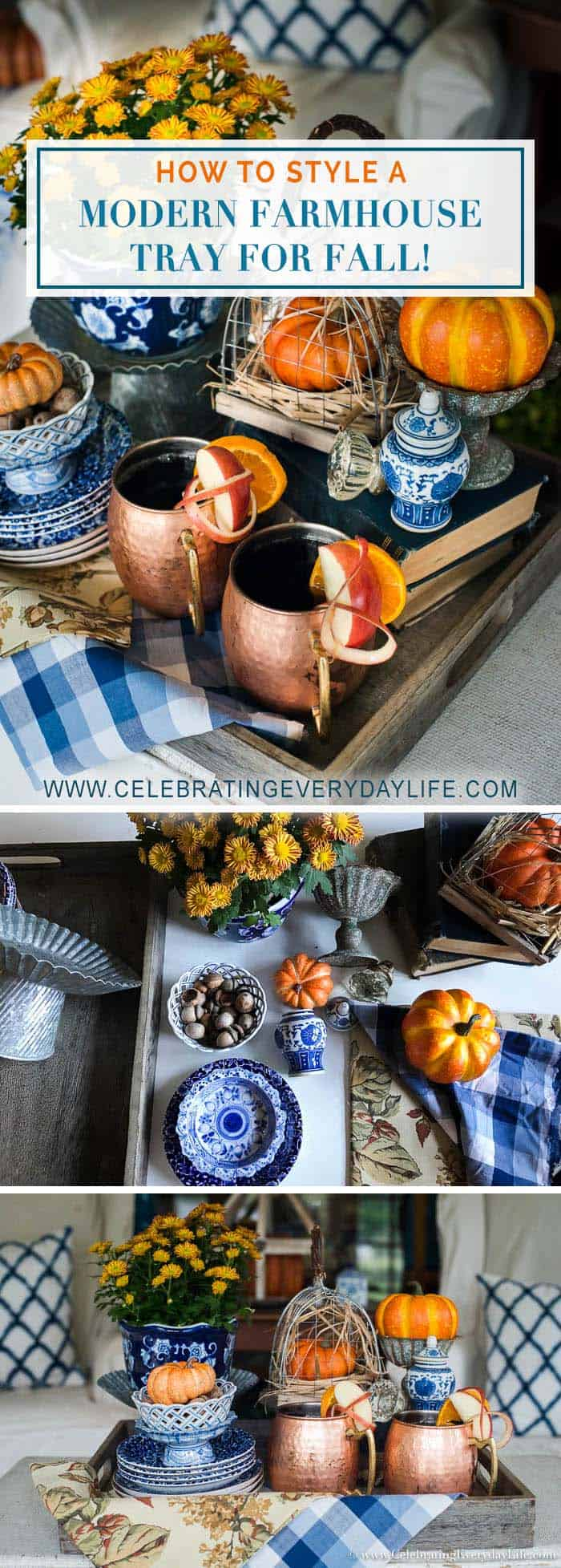 Modern Farmhouse Tray Styling Blog Hop, Tips for How to Style a Fall Tray!