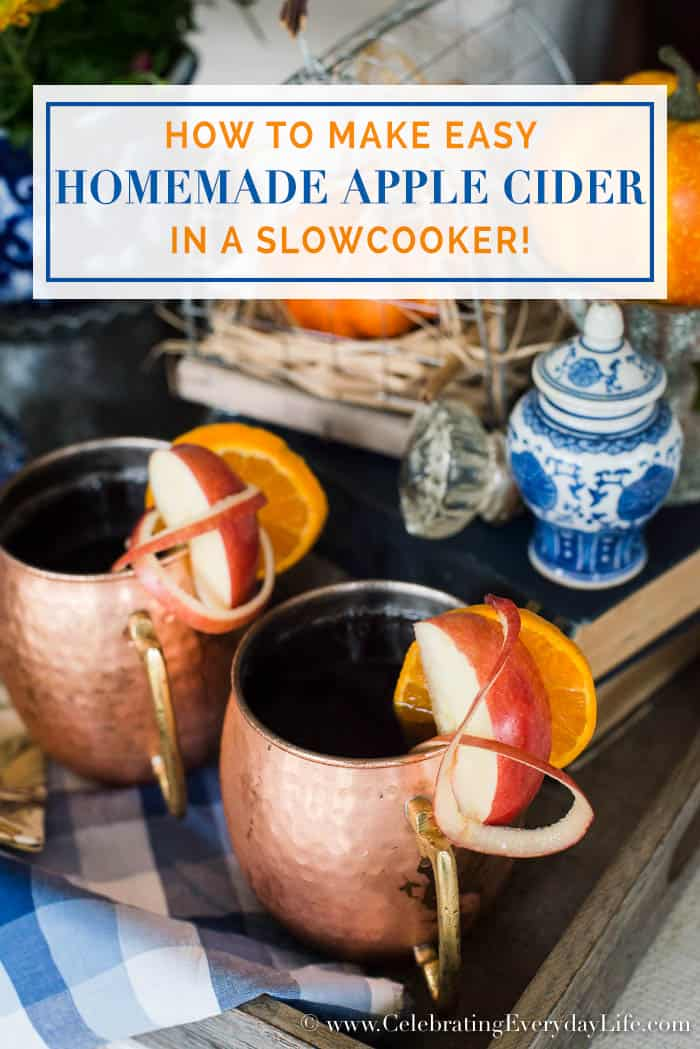 How to Make Easy Homemade Apple Cider in a Slowcooker, Simple and delicious fall drink recipe