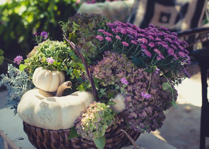 How to Make an Easy Purple Fall Floral Arrangement