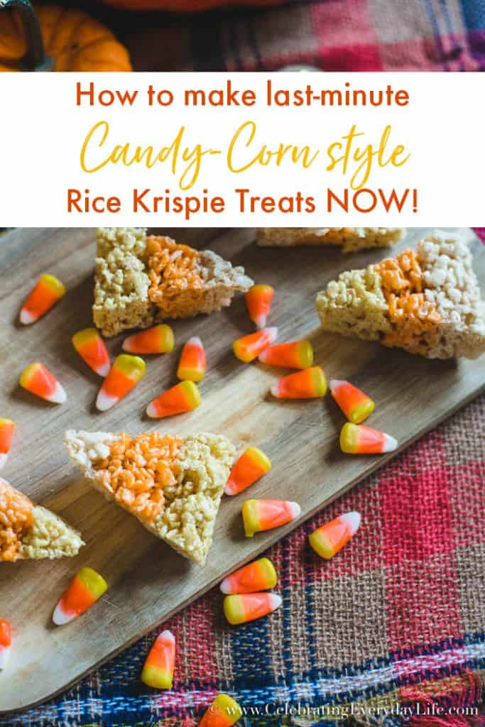 How to make last-minute candy corn rice krispie treats now!