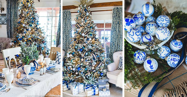 Blue and White Christmas Decorating Ideas, How to have a beautiful holiday on a budget