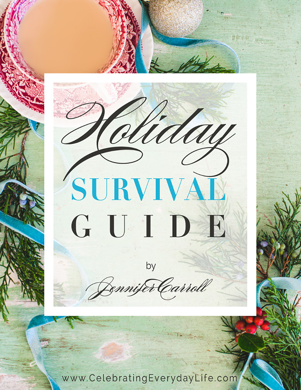 Have the best holidays EVER! My Holiday Survival Guide is an easy to use system with everything you need to have your best holiday ever! The Holiday Survival Guide from Celebrating Everyday Life with Jennifer Carroll
