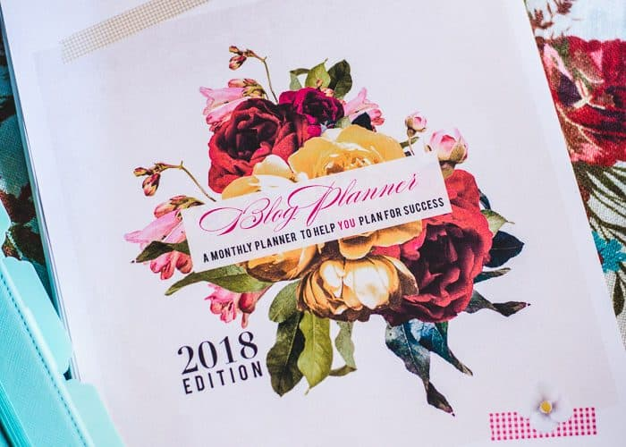 How to assemble my 2018 Blog Planner