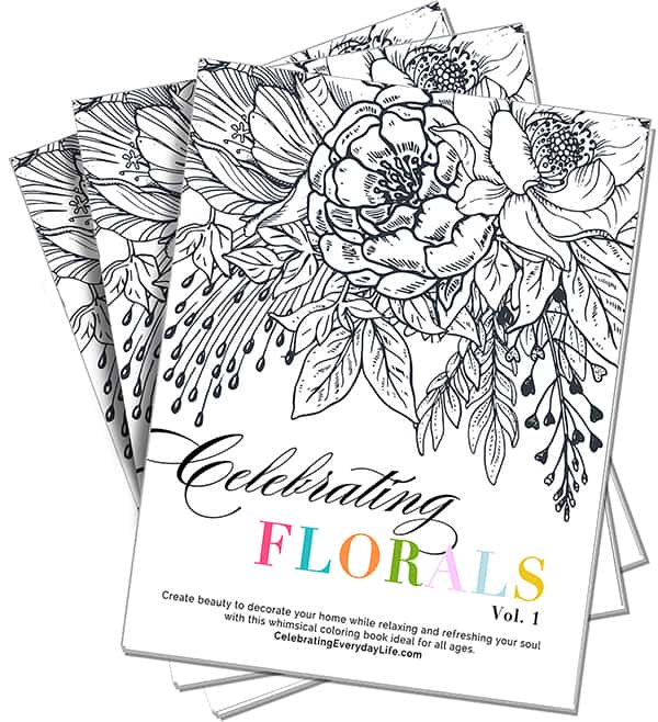Celebrating Florals vol. 1 coloring book, New Year Essentials to have your best year yet!