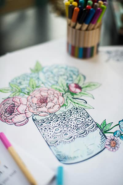 Celebrating Florals vol 1 adult coloring book printable, Color away stress and ignite creativity! I love the gift tags for coloring too!