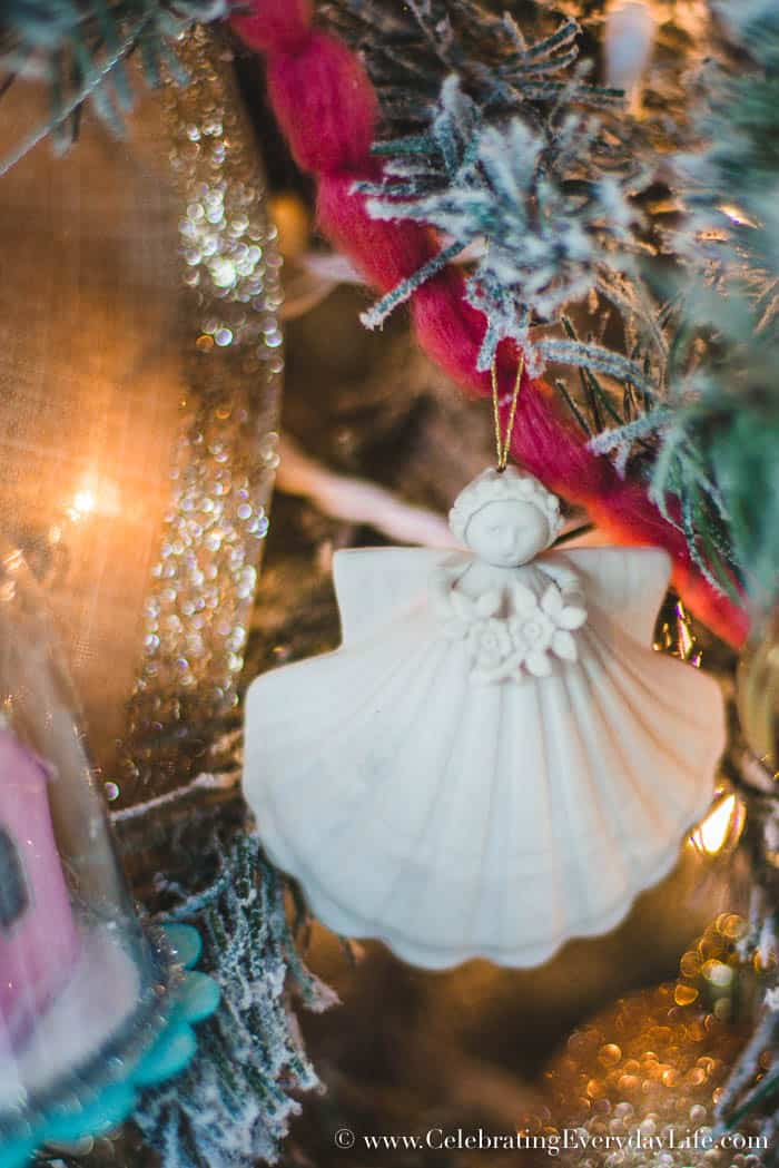 How to Make Your Shabby Chic Christmas Tree Spectacular, Margaret Furlong Seashell Angel Ornament