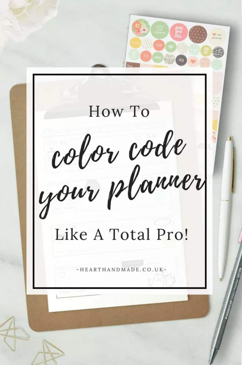 HOW TO COLOR CODE YOUR PLANNER LIKE A TOTAL PRO
