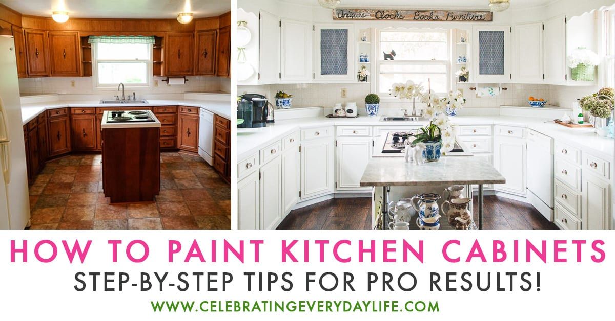 How to make old cabinets look new with paint for Making old kitchen cabinets look modern