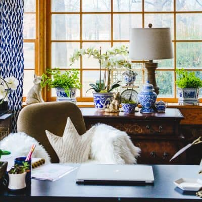 How To Set Up A Beautiful Home Office To Be More Efficient plus a free home office organizer printable, Tips to help you organize your home office