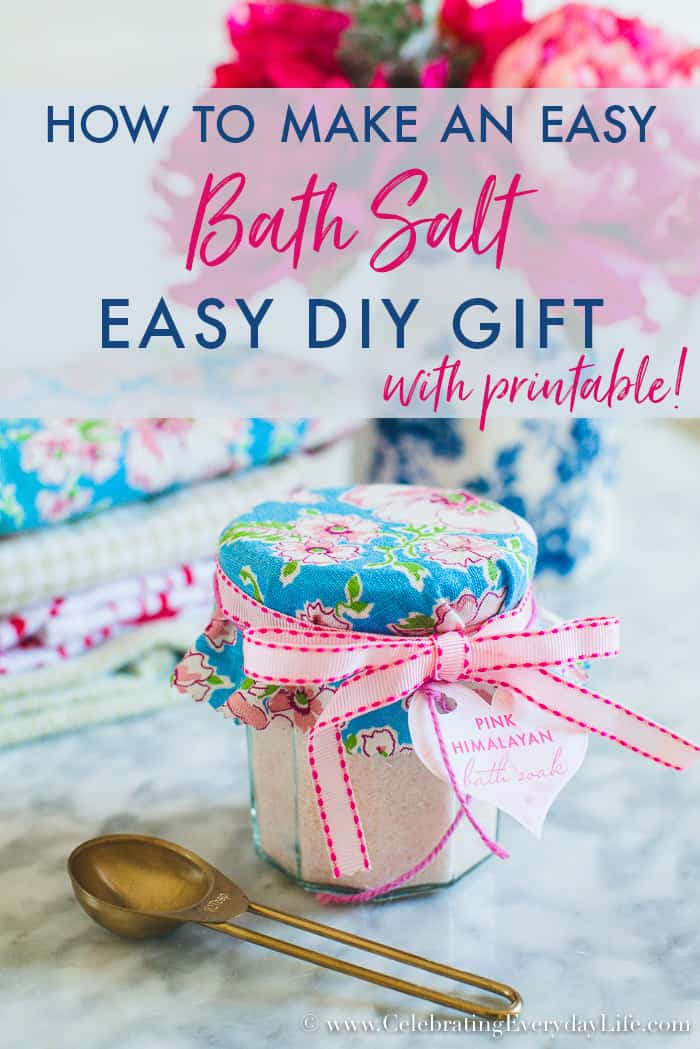 Easterspring archives celebrating everyday life with jennifer how to make an easy diy bath salt gift negle Image collections