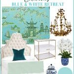 How to Plan a Luxurious Blue and White Retreat, Pro Tips and Ideas to help you plan the ultimate bedroom makeover!