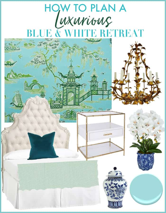 How to Plan a Luxurious Blue & White Retreat