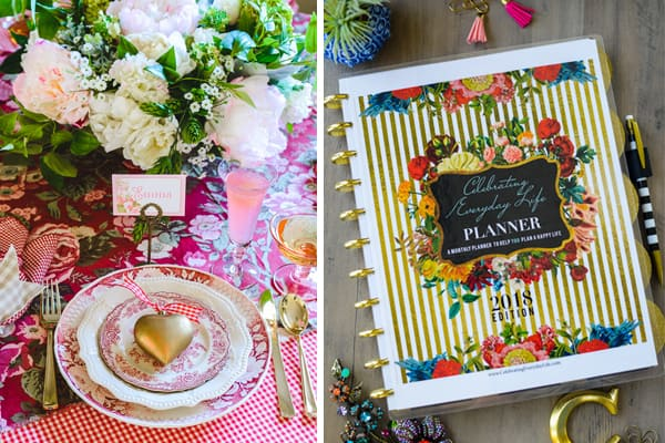 How to Host a Fantastic Galentine's Day Party, Introducing the 2018 Celebrating Everyday Life Daily Planner