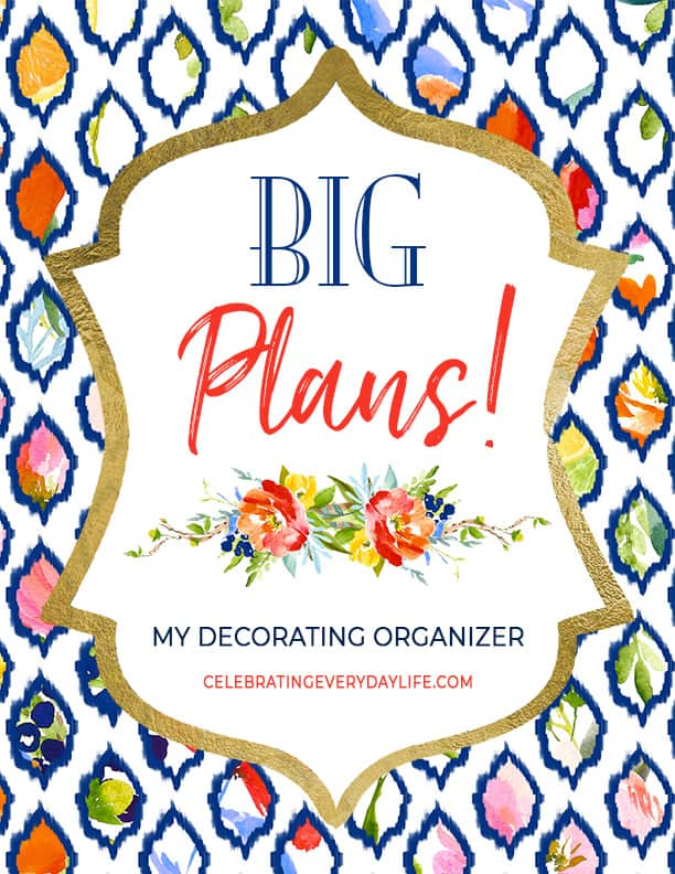Big Plans Home Decorating Binder Cover from HOW TO CREATE A HOME DECORATING PROJECT BINDER on CelebratingEverydayLife.com