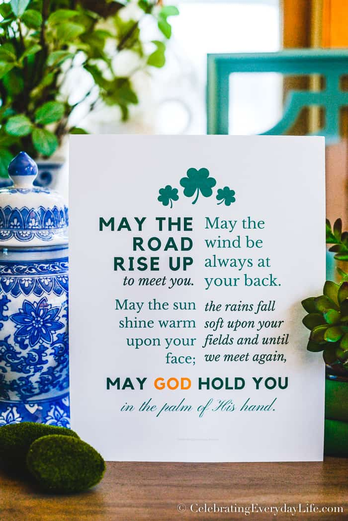picture regarding Printable Irish Blessing identify Free of charge Irish Blessing St. Patricks Working day Printable!