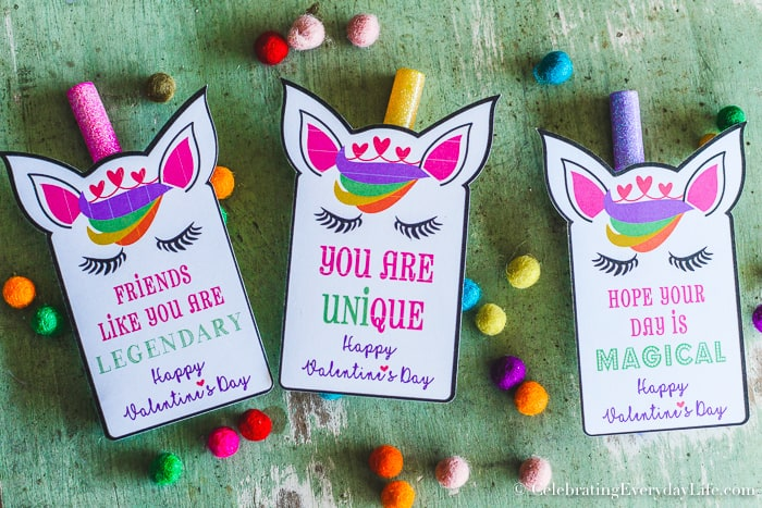 image regarding Free Printable Unicorn Valentines called How in direction of Crank out Straightforward Unicorn Valentines + No cost Printable