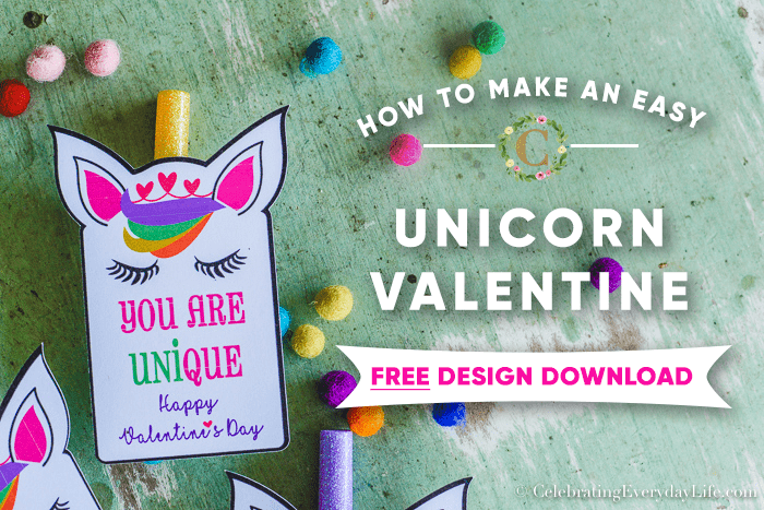 image about Free Printable Unicorn Valentines named How towards Make Uncomplicated Unicorn Valentines + Totally free Printable