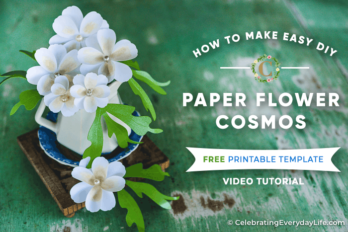 How To Make Easy Diy Paper Flower Cosmos