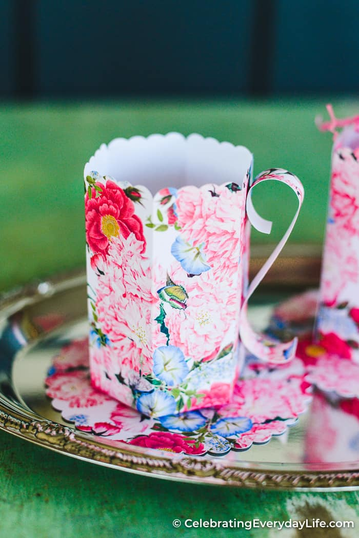 How To Make An Easy Diy Paper Teacup