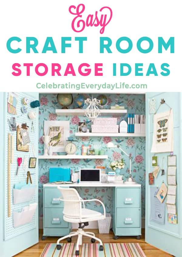 Easy Craft Room Storage Ideas