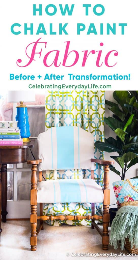 How To Chalk Paint Fabric