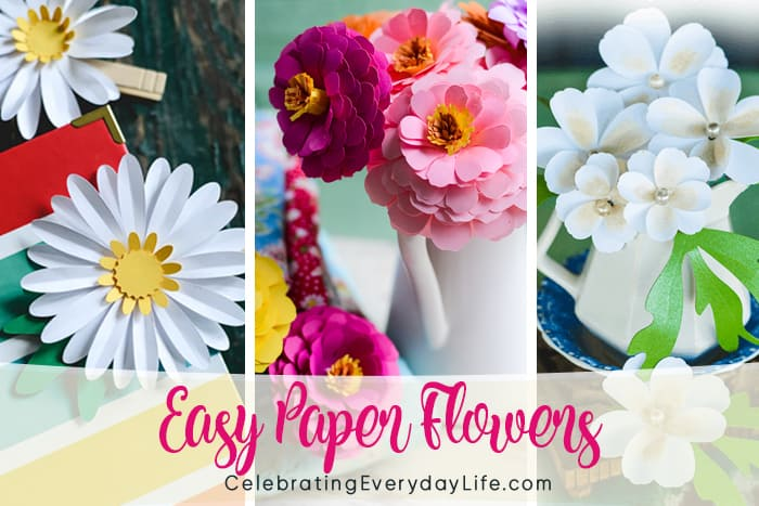 Learn How to Make Faux Blooms with Paper Flowers DIY   467x700