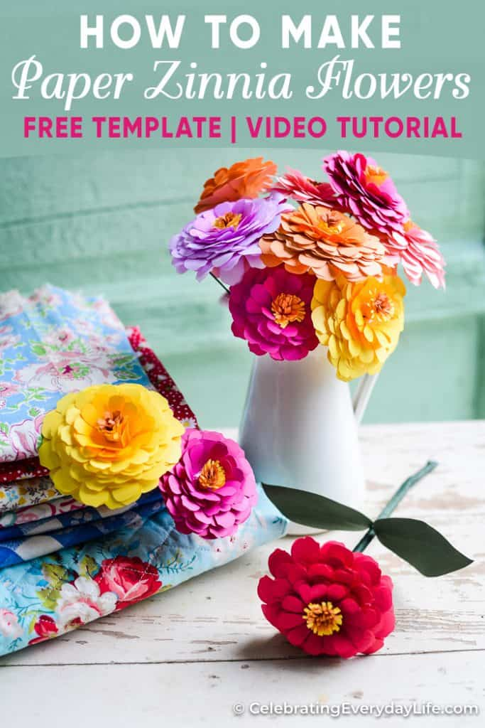 How To Make A Paper Zinnia Flower